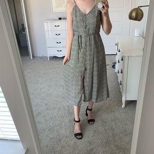 Comfy button front midi dress